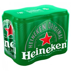 cerveza heineken 269 ml six pack