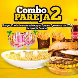hamburguesa para 2